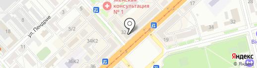 ДальАМО на карте Комсомольска-на-Амуре