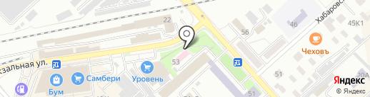 Станция переливания крови г. Комсомольска-на-Амуре на карте Комсомольска-на-Амуре