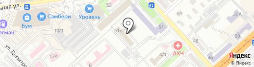 Дальневосточное управление Федеральной службы по экологическому, технологическому и атомному надзору на карте Комсомольска-на-Амуре
