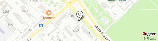 Афалина на карте Комсомольска-на-Амуре