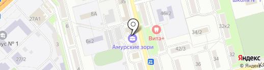 Кадастровый инженер Сокол А.С. на карте Комсомольска-на-Амуре