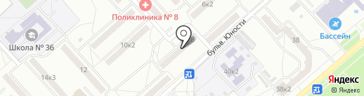 Продуктовый мини-магазин на карте Комсомольска-на-Амуре