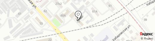 Отдел Военного комиссариата Хабаровского края по г. Комсомольску-на-Амуре на карте Комсомольска-на-Амуре