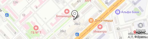 Акватория на карте Комсомольска-на-Амуре