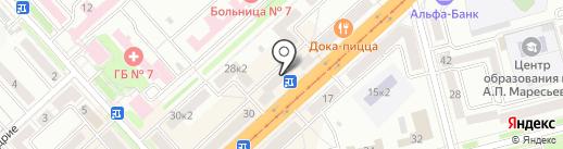 Городская централизованная библиотека №8 на карте Комсомольска-на-Амуре