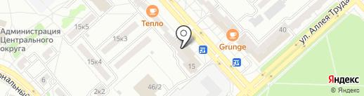 Магазин хлебобулочных изделий на проспекте Первостроителей на карте Комсомольска-на-Амуре