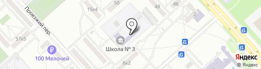 Специальная общеобразовательная коррекционная школа №3 для детей с нарушениями интеллекта на карте Комсомольска-на-Амуре