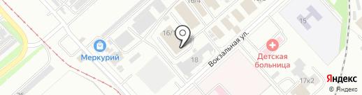 Магазин-склад мясной продукции на карте Комсомольска-на-Амуре