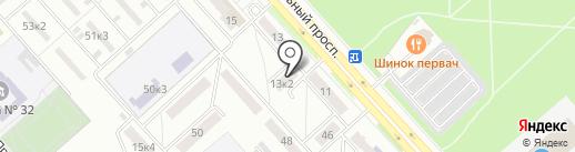Колесо на карте Комсомольска-на-Амуре