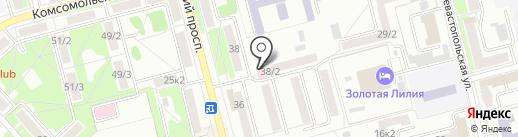 Магазин медицинского оборудования на карте Комсомольска-на-Амуре