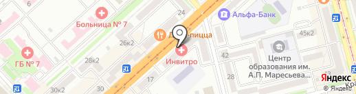 МИО на карте Комсомольска-на-Амуре