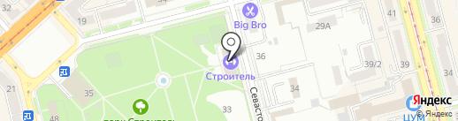 СДЮШОР №1 на карте Комсомольска-на-Амуре