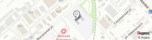 Детский сад №104 на карте Комсомольска-на-Амуре