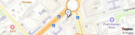 Телекарта на карте Комсомольска-на-Амуре