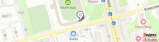 ДЮСШ №4 на карте Комсомольска-на-Амуре
