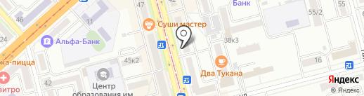 Народный на карте Комсомольска-на-Амуре