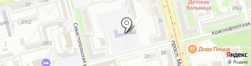 Средняя общеобразовательная школа №50 на карте Комсомольска-на-Амуре