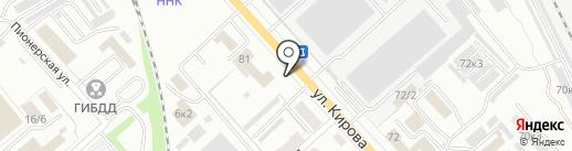Автопробег на карте Комсомольска-на-Амуре