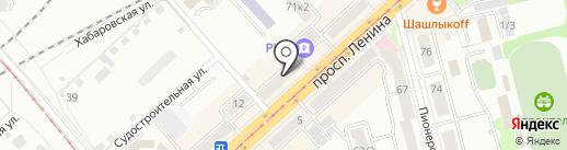 Точка24 на карте Комсомольска-на-Амуре