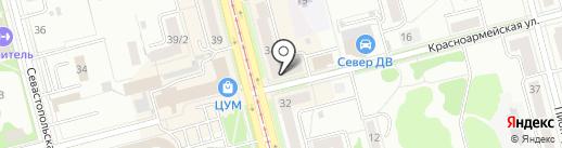 Сакура на карте Комсомольска-на-Амуре