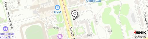 Учебный центр на карте Комсомольска-на-Амуре