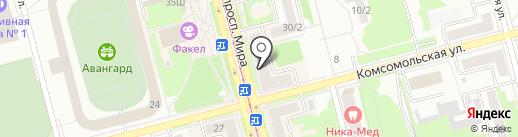 Мастерская по ремонту часов и изготовлению ключей на карте Комсомольска-на-Амуре