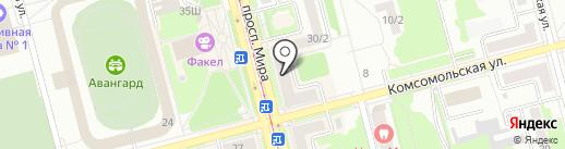 Региональное Бюро Экспертиз на карте Комсомольска-на-Амуре
