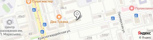 Комплекс на карте Комсомольска-на-Амуре