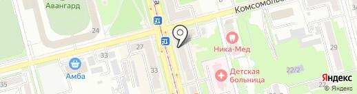 Водомер на карте Комсомольска-на-Амуре