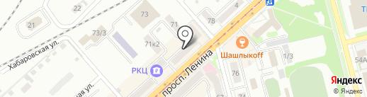 Айболит на карте Комсомольска-на-Амуре