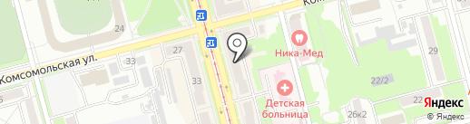 Иволга на карте Комсомольска-на-Амуре
