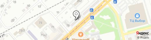Упаком на карте Комсомольска-на-Амуре