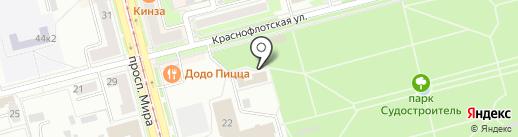 Киоск по продаже меда на карте Комсомольска-на-Амуре