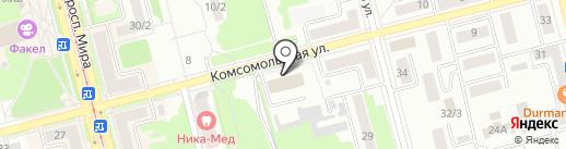 Горсвет, МУП на карте Комсомольска-на-Амуре