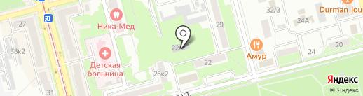 Центр юных техников, МОУ на карте Комсомольска-на-Амуре