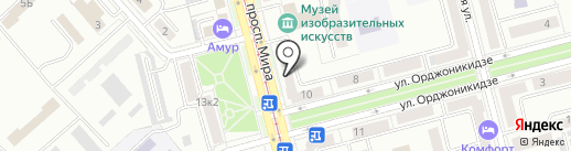 Салон-магазин офисной техники на карте Комсомольска-на-Амуре