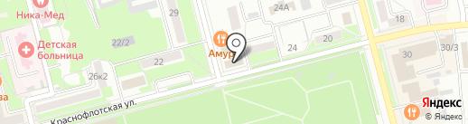 Информационно-методический центр образования на карте Комсомольска-на-Амуре