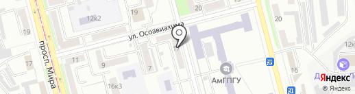 Abc на карте Комсомольска-на-Амуре