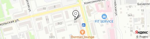 Русское радио, FM 102.2 на карте Комсомольска-на-Амуре