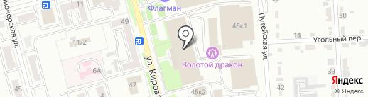ПРОЕКТ на карте Комсомольска-на-Амуре