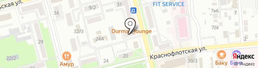 Лазурит на карте Комсомольска-на-Амуре