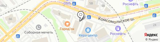 СтокЦентр на карте Комсомольска-на-Амуре