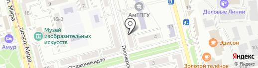 Общежитие на карте Комсомольска-на-Амуре