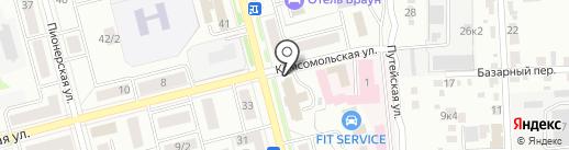 Каменный лев на карте Комсомольска-на-Амуре