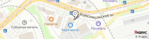КераЦентр на карте Комсомольска-на-Амуре
