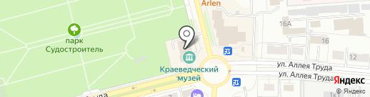 Городской краеведческий музей на карте Комсомольска-на-Амуре