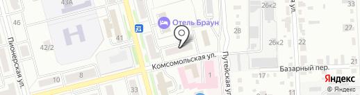 Восток на карте Комсомольска-на-Амуре