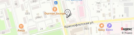 Соната на карте Комсомольска-на-Амуре