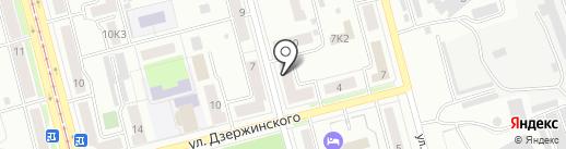 Астразебра на карте Комсомольска-на-Амуре