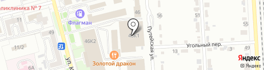 Олимп на карте Комсомольска-на-Амуре